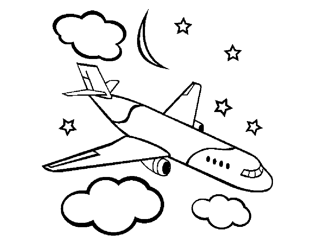 coloring airplane for kids airplanes for kids drawing at getdrawings free download coloring kids for airplane
