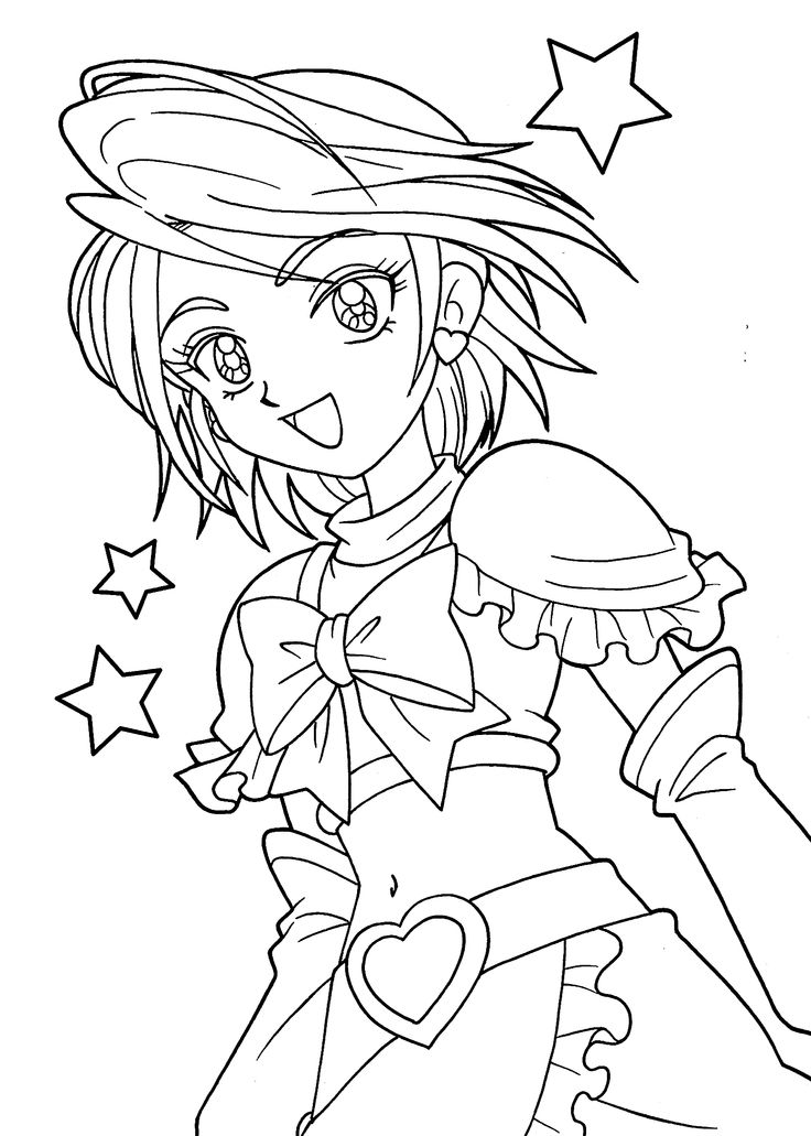 coloring anime girl anime coloring pages getcoloringpagescom girl anime coloring
