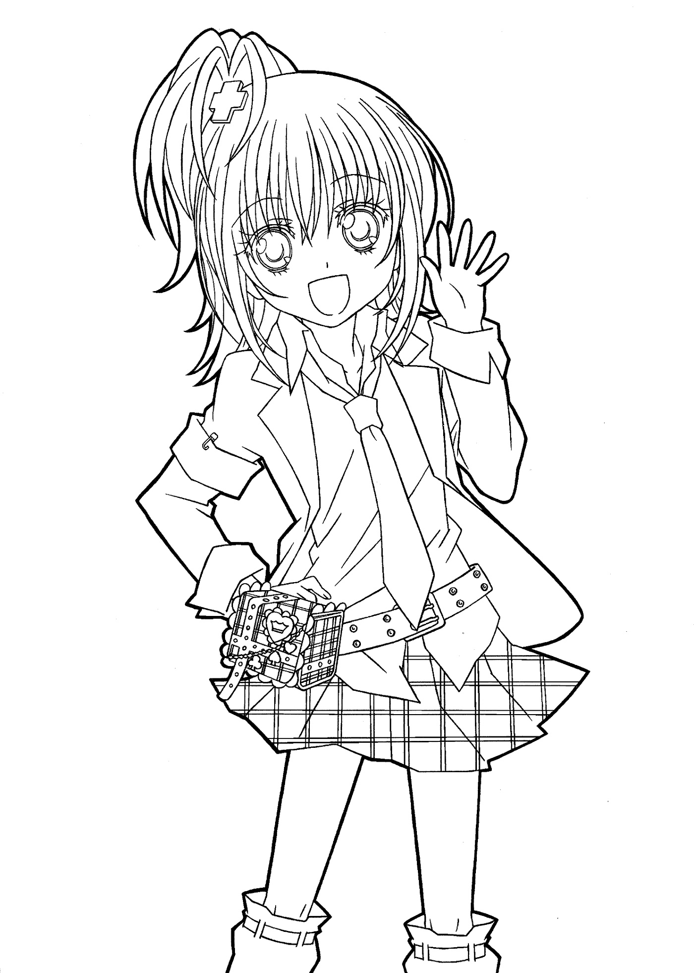coloring anime girl nerdy girl drawing at getdrawings free download anime coloring girl