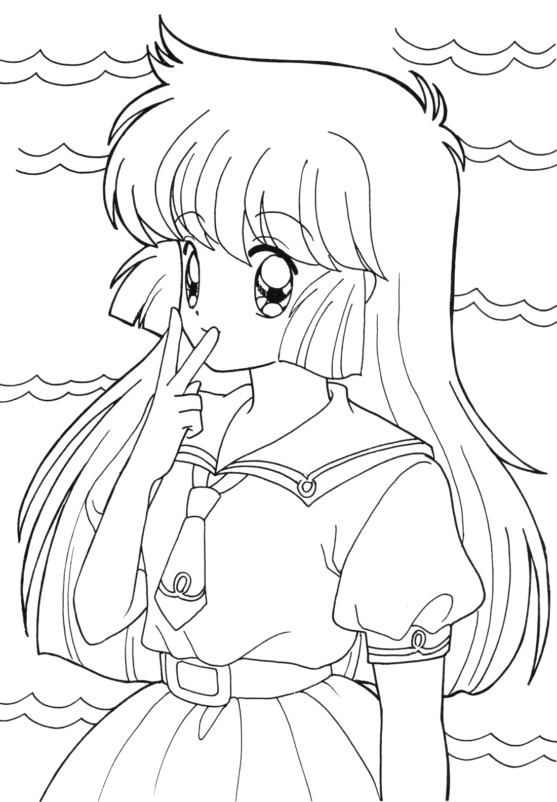 coloring anime pictures free anime girl coloring page free printable coloring coloring anime pictures