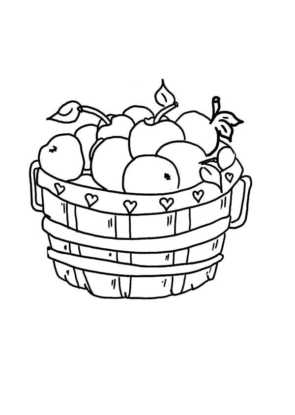 coloring apple basket an empty apple basket coloring pages best place to color basket apple coloring