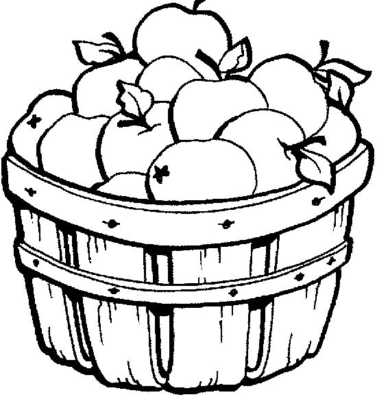 coloring apple basket apple basket coloring page clipart panda free clipart basket apple coloring