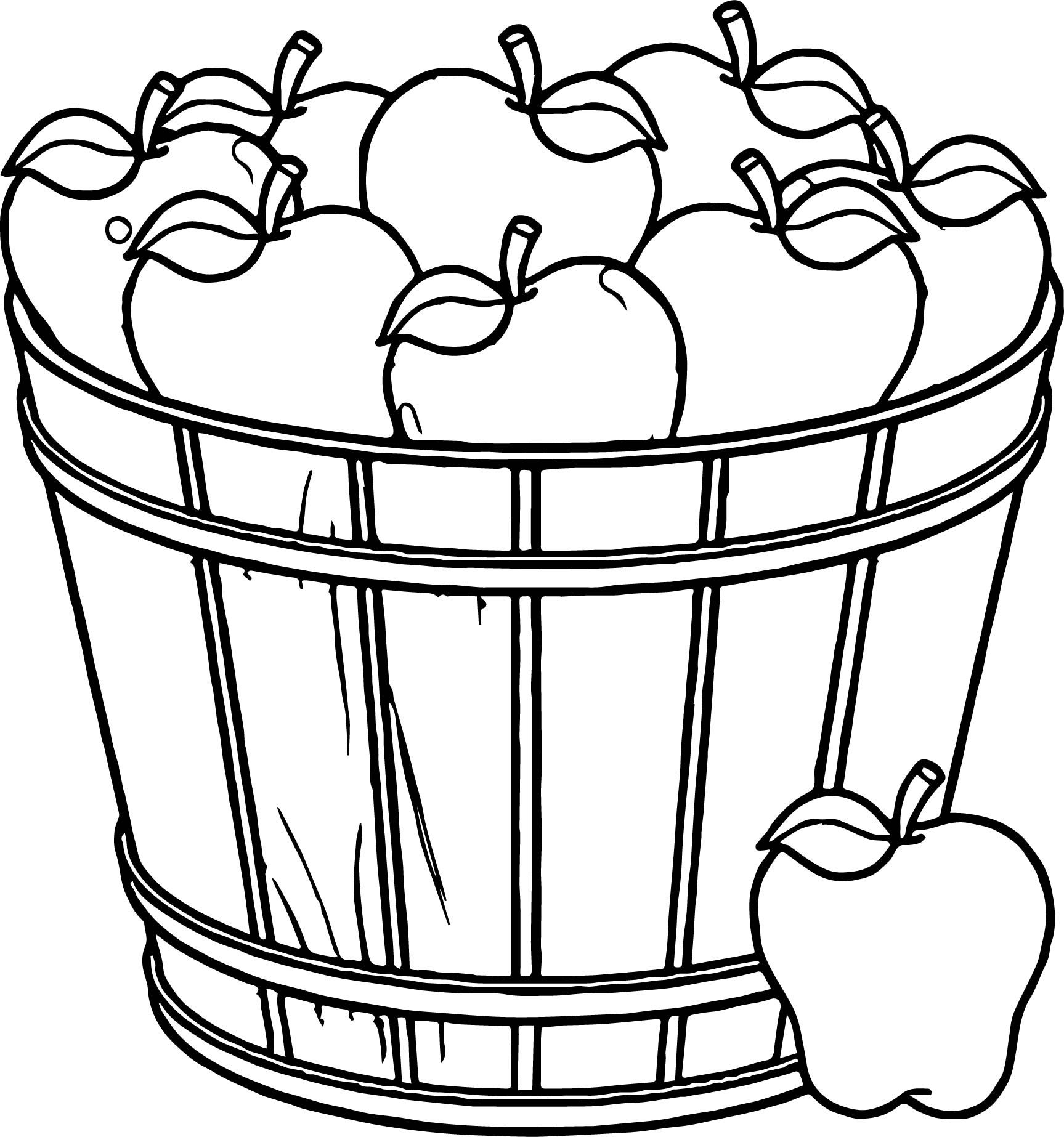 coloring apple basket clipart panda free clipart images apple coloring basket