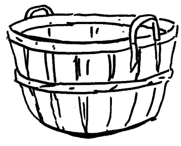 coloring apple basket clipart panda free clipart images apple coloring basket 1 1