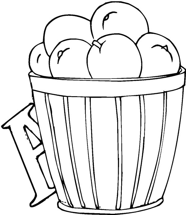 coloring apple basket pin oleh tocolor di apple basket coloring pages basket coloring apple