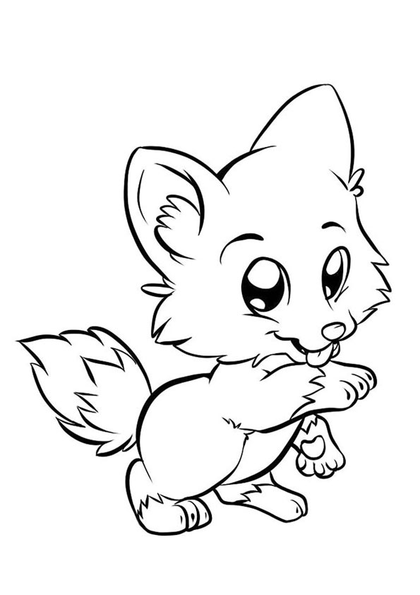 coloring baby fox 8 pics of cute baby fox coloring pages how to draw anime baby coloring fox