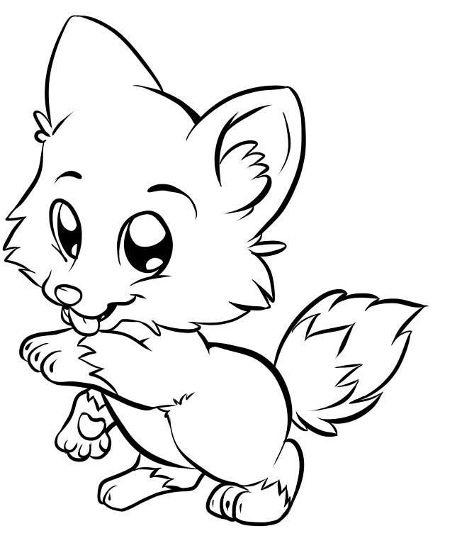 coloring baby fox cute baby fox coloring pages coloring home baby coloring fox