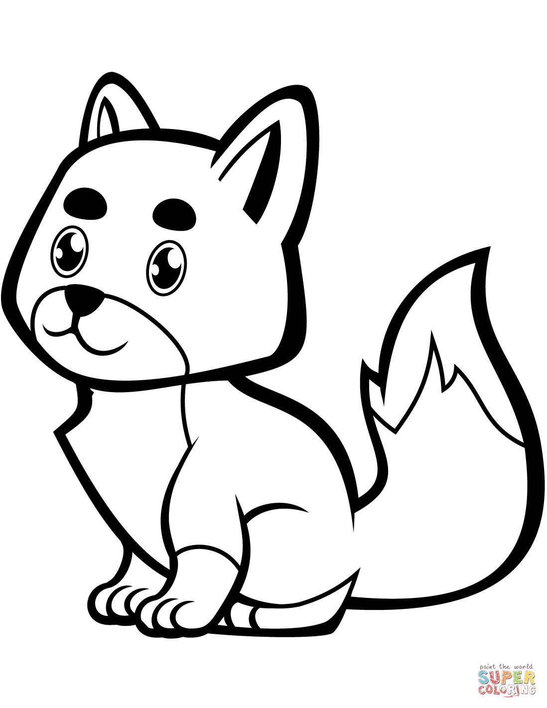 coloring baby fox cute baby fox coloring pages coloring home baby fox coloring