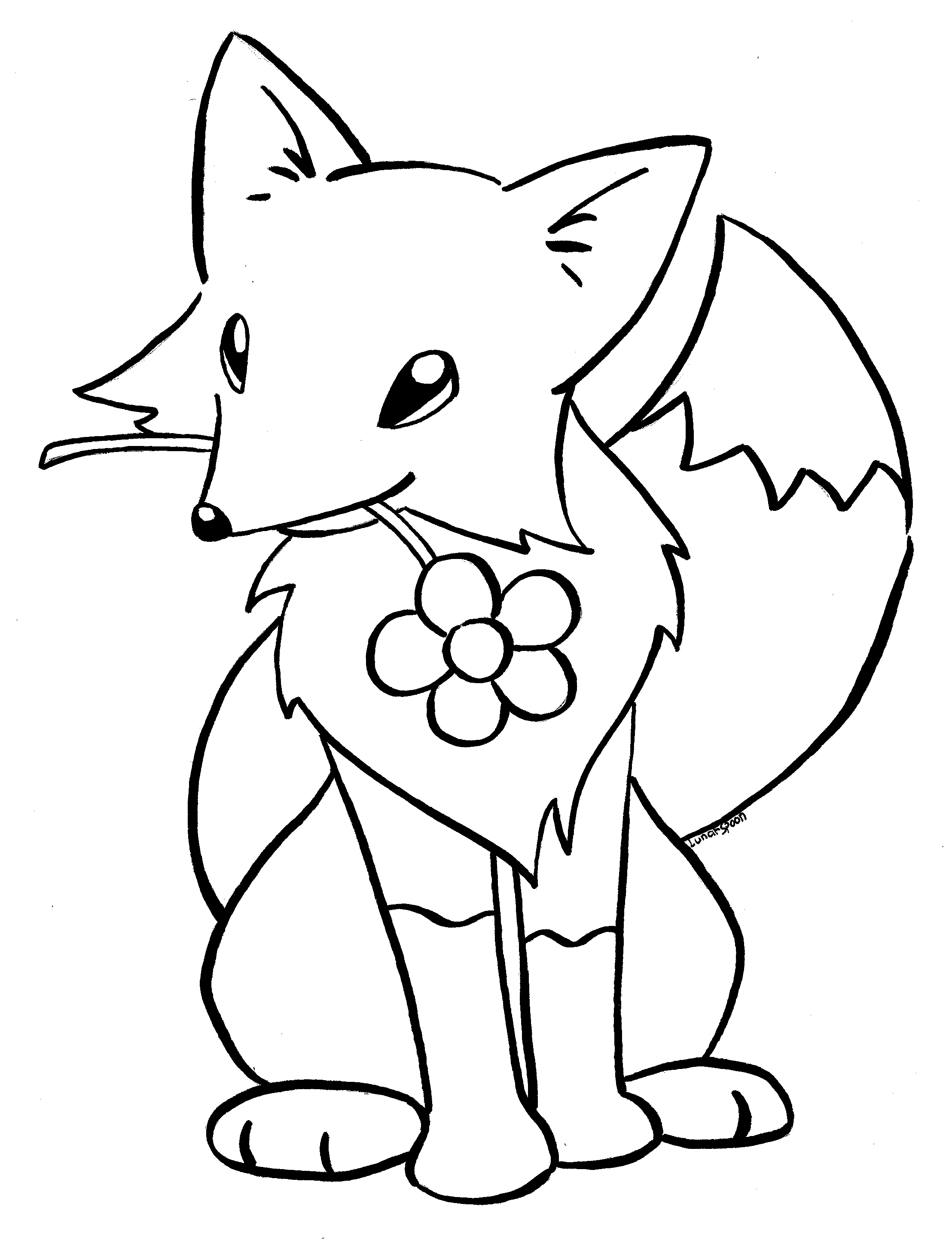 coloring baby fox free printable baby fox coloring page simple mom project baby coloring fox