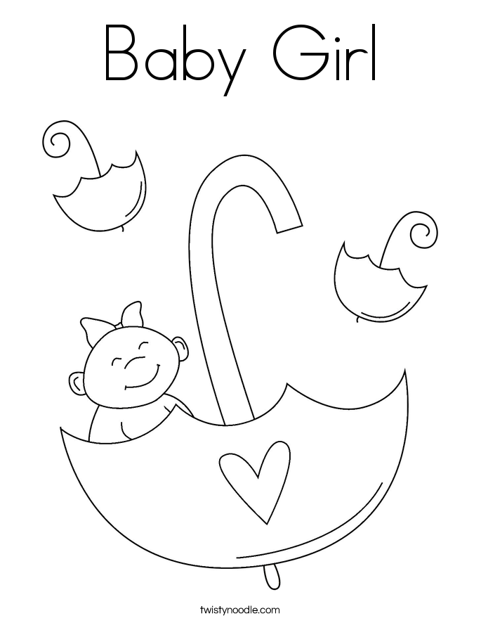coloring baby girl baby girl coloring page twisty noodle baby girl coloring