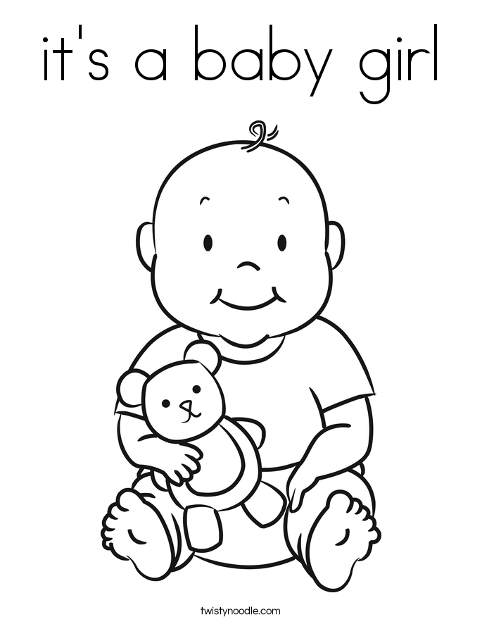 coloring baby girl baby girl colouring pages clip art library girl baby coloring