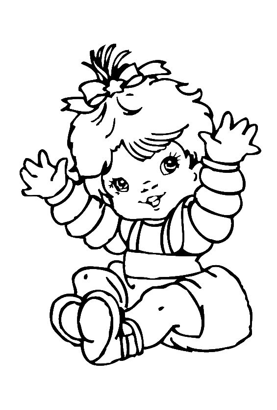 coloring baby girl cute baby girl coloring pages baby coloring pages free coloring baby girl