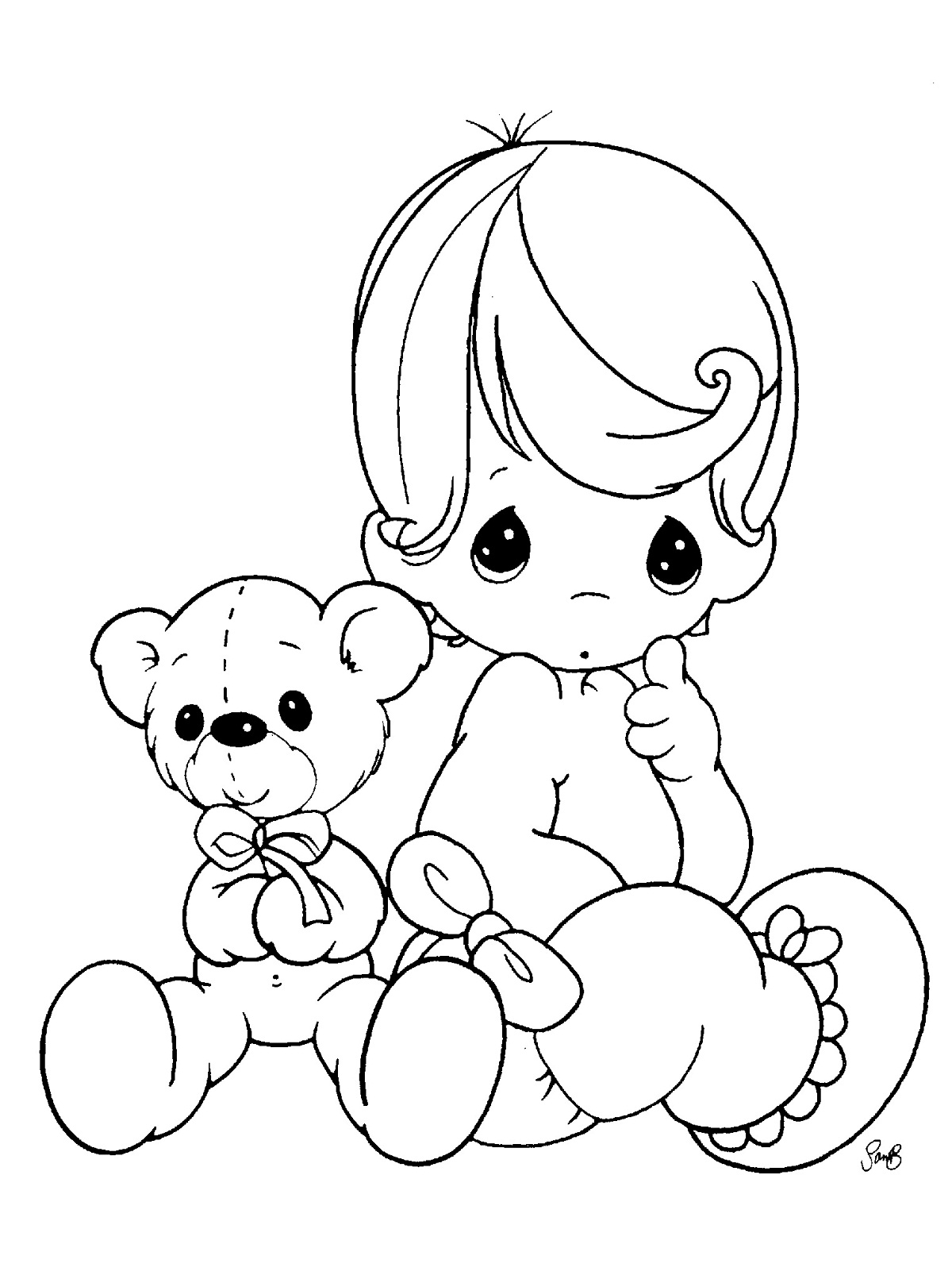 coloring baby girl free printable baby coloring pages for kids baby girl coloring 1 1