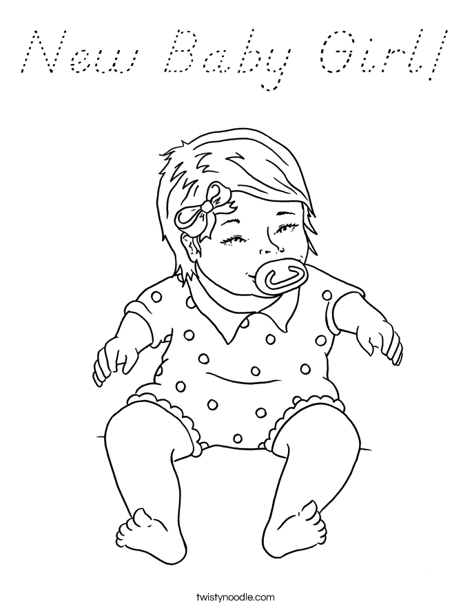 coloring baby girl new baby girl coloring page d39nealian twisty noodle baby coloring girl