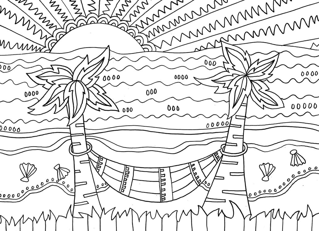 coloring beach scene beach coloring pages beach scenes activities coloring scene beach 1 1
