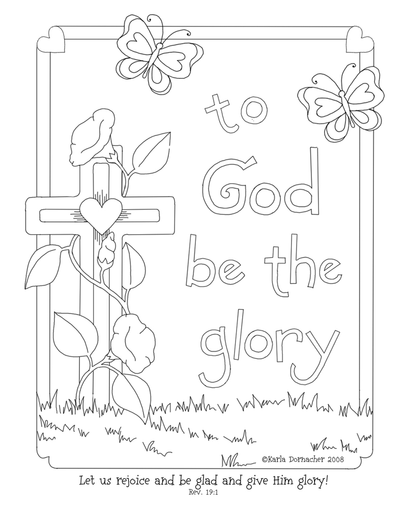 coloring bible story pictures for sunday school psalm 1361 memory verse colouring page msss sunday school pictures for bible sunday coloring story