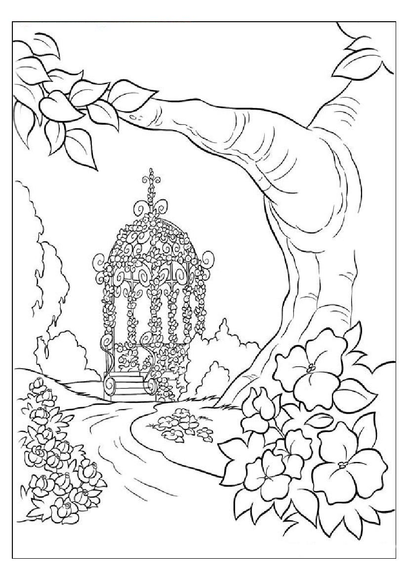 coloring book nature scenes coloring pages nature landscape forest mountains sea book nature scenes coloring