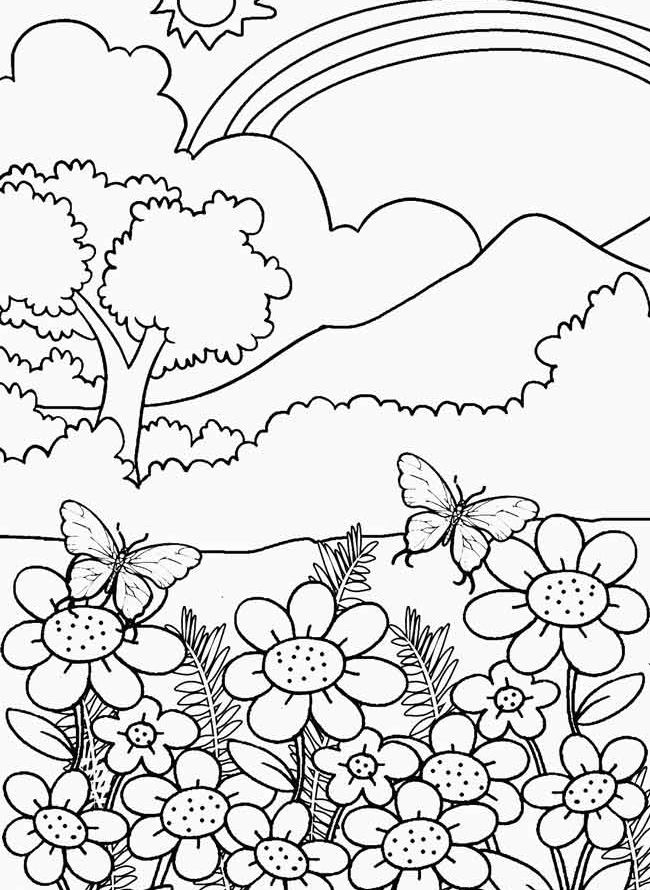 coloring book nature scenes printable nature coloring pages for kids cool2bkids book coloring scenes nature