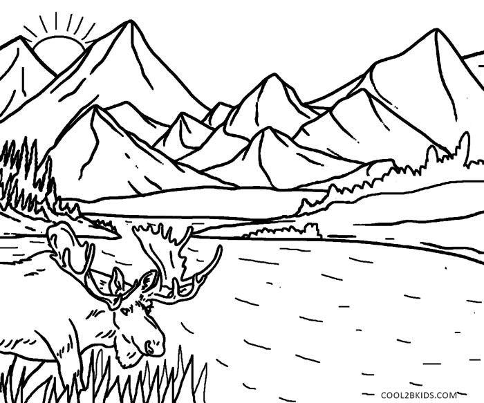 coloring book nature scenes printable nature coloring pages for kids cool2bkids book coloring scenes nature 1 1
