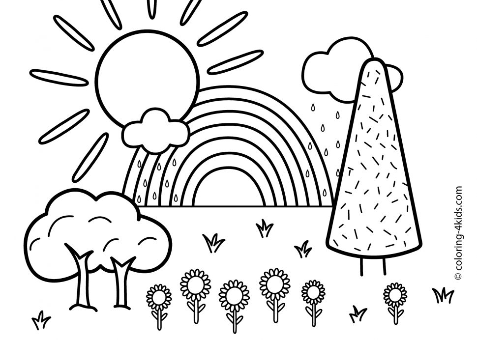 coloring book nature scenes scenery drawing step by step at getdrawingscom free for book scenes nature coloring