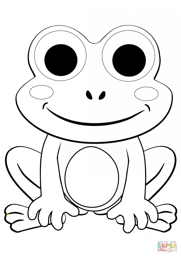coloring book picture of a frog cartoon frog coloring pages at getdrawings free download book coloring of a picture frog