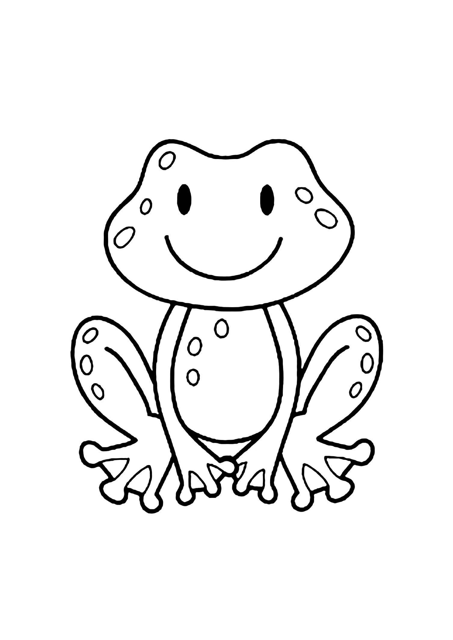 coloring book picture of a frog free printable frog coloring pages for kids book a coloring picture of frog