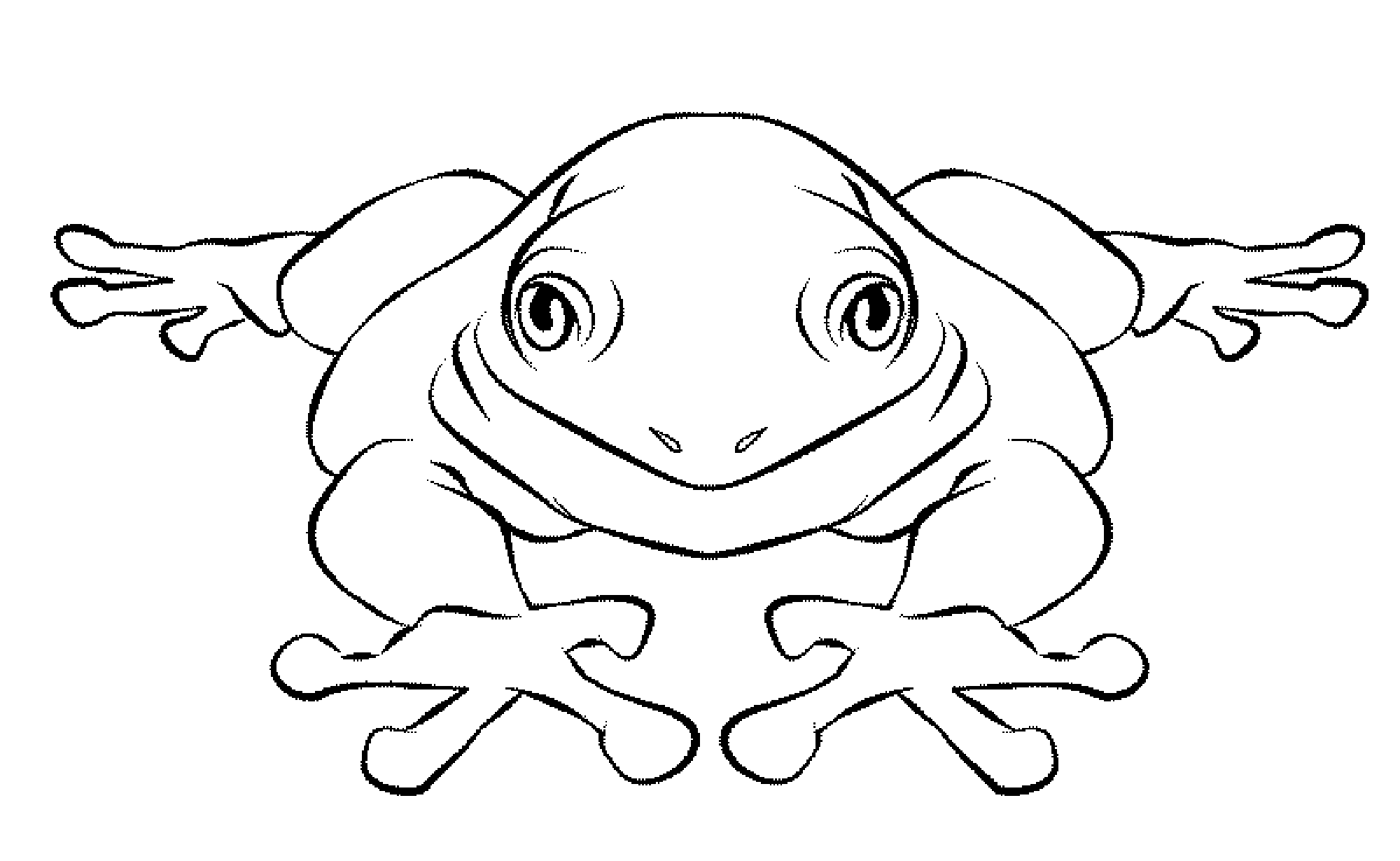 coloring book picture of a frog print download frog coloring pages theme for kids of picture frog coloring a book