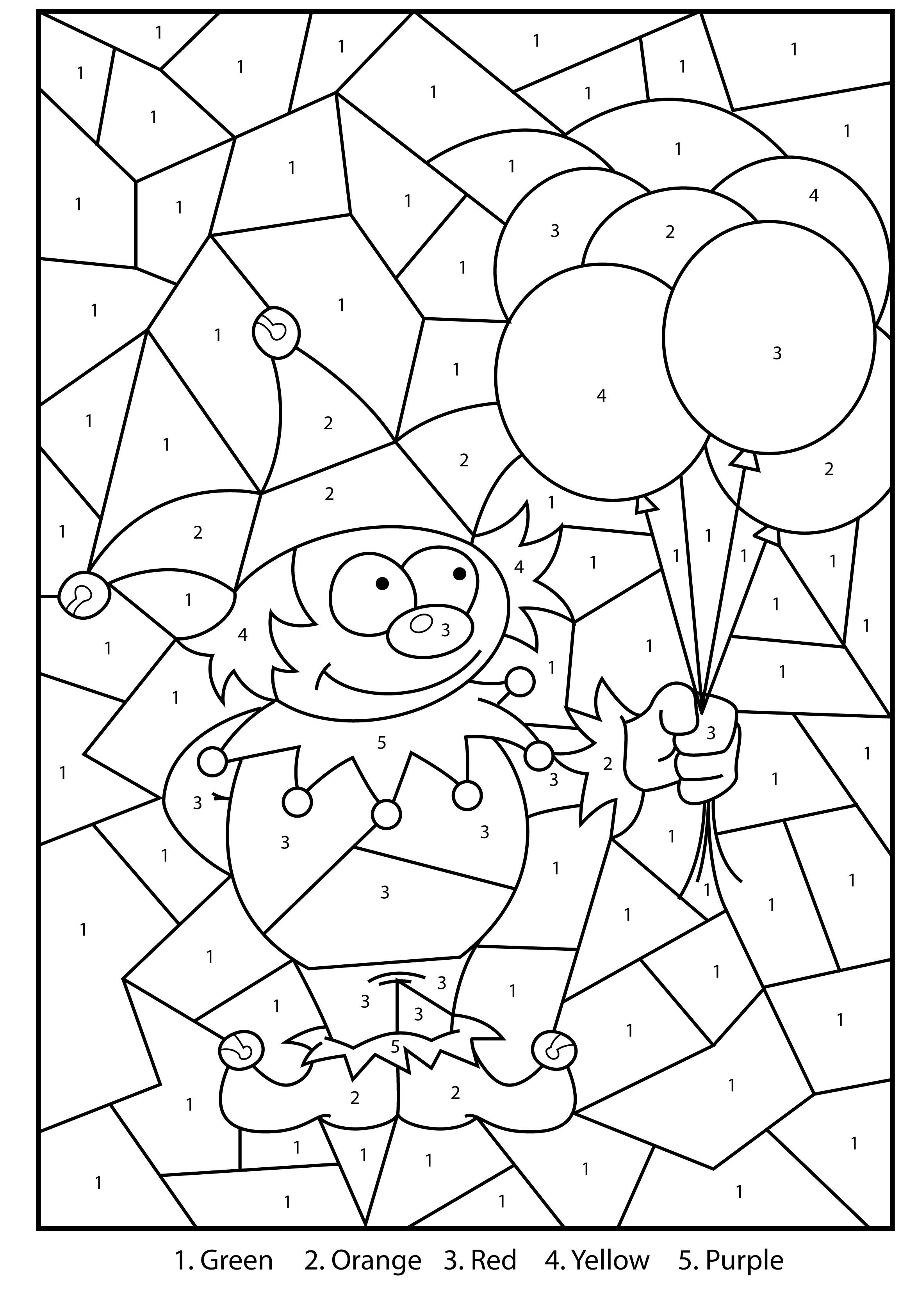 coloring by number color by number koala stock illustration download image coloring number by