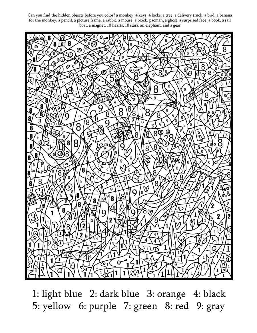 coloring by number difficult color by number printables coloring home by number coloring