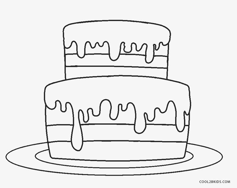 coloring cake for kids birthday cake coloring pages getcoloringpagescom coloring for kids cake