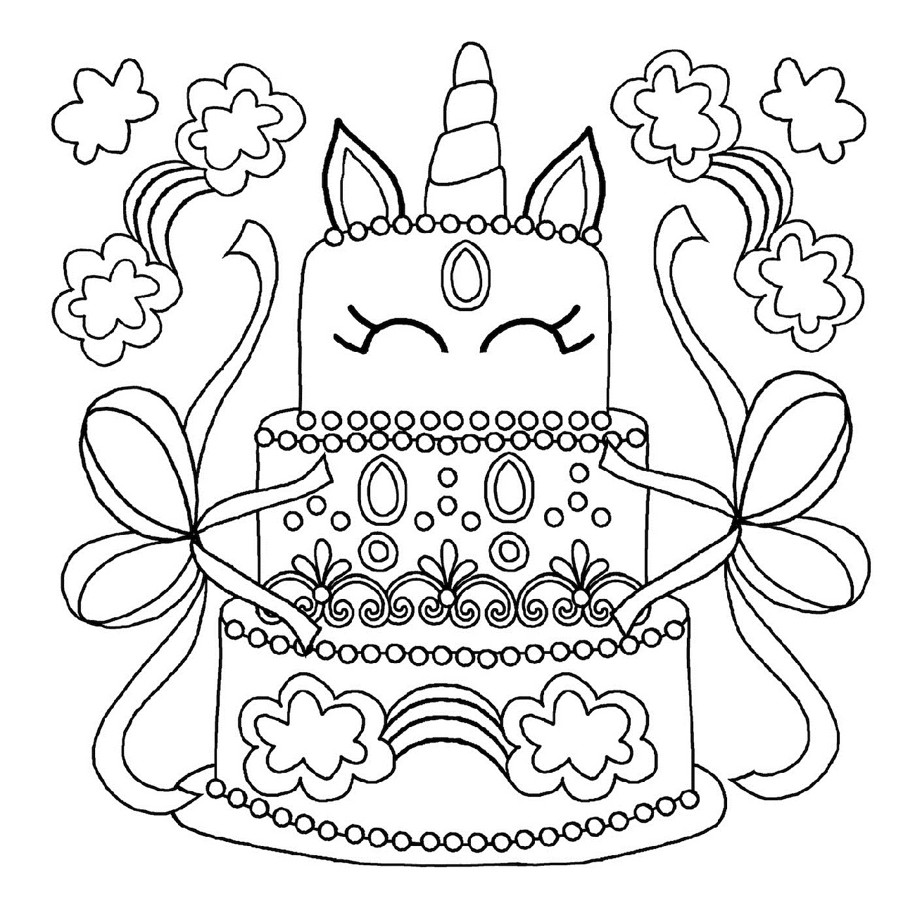 coloring cake for kids birthday cake coloring pages printable 101 coloring cake for coloring kids