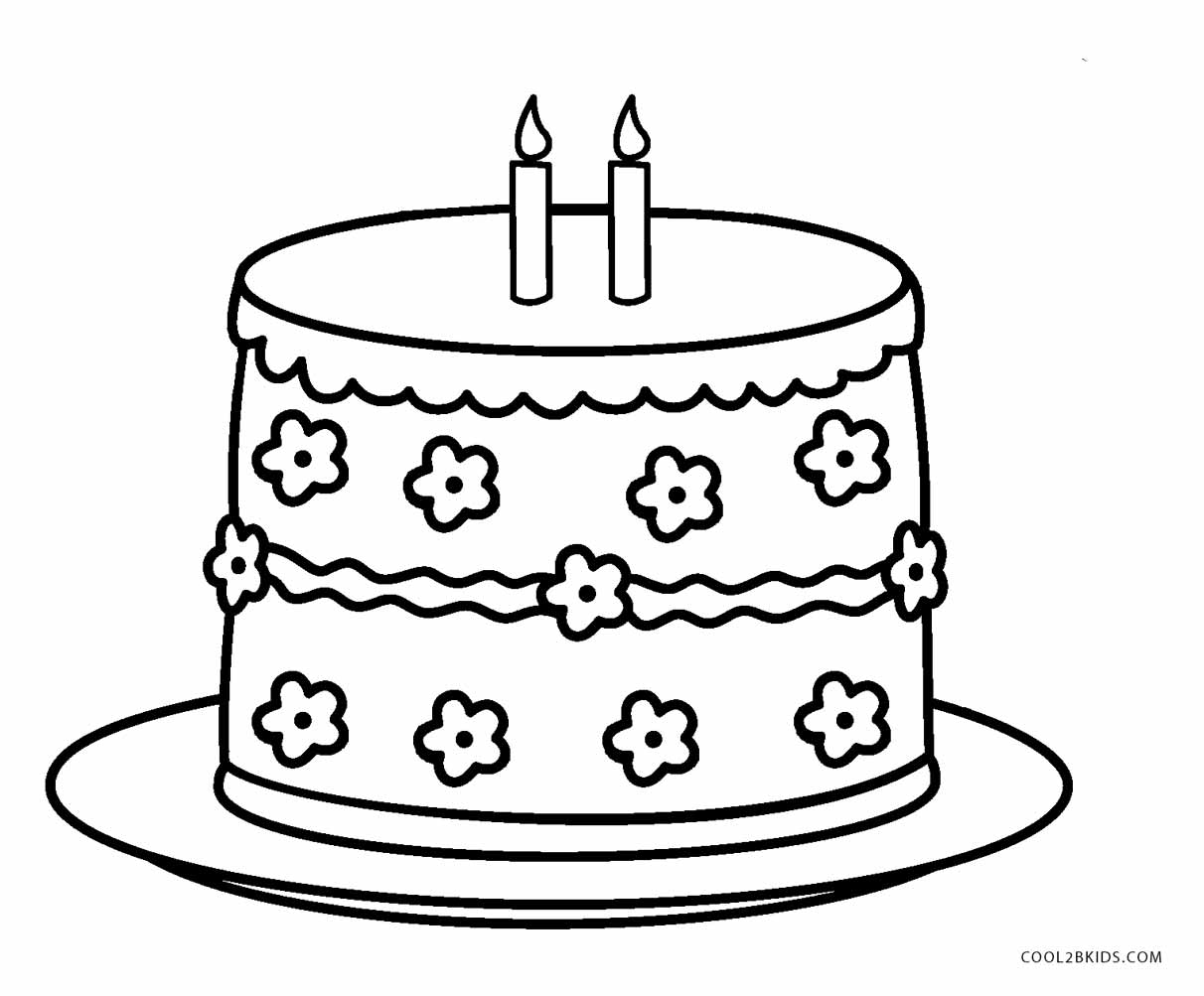 coloring cake for kids cake coloring page coloring home kids for cake coloring