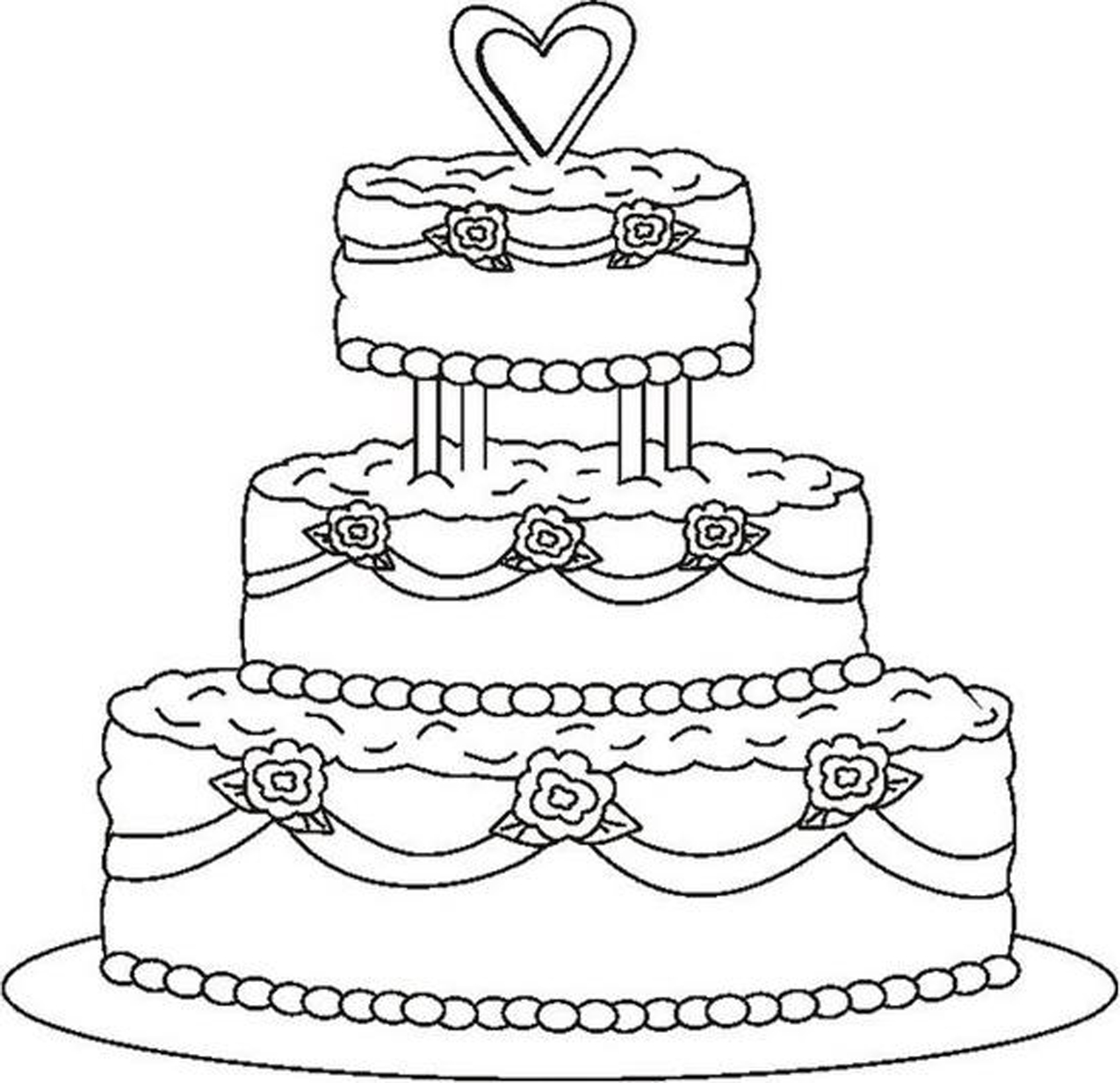 coloring cake for kids coloring pagesprincess coloring pagesdisney princess for cake coloring kids