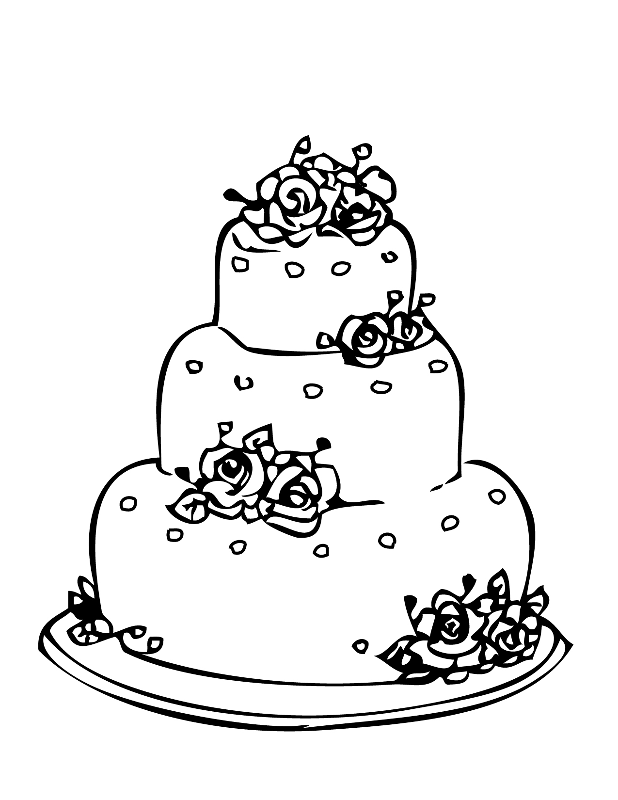 coloring cake pages best wedding cake clip art 17139 clipartioncom pages coloring cake