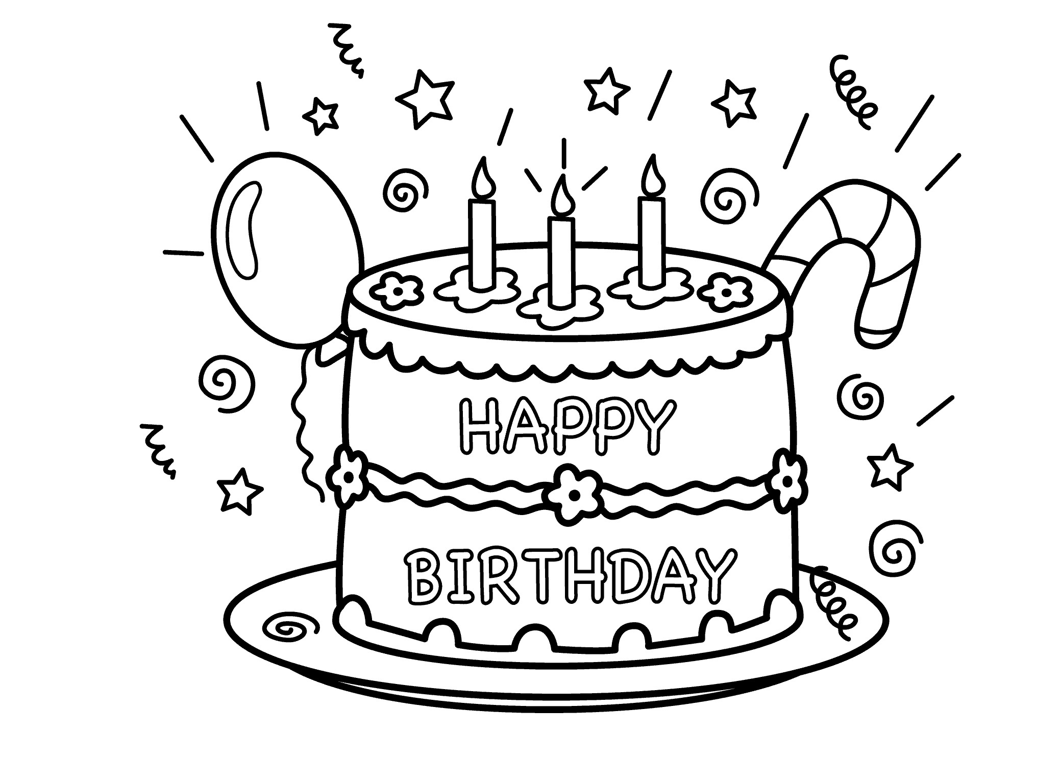 coloring cake pages free printable birthday cake coloring pages for kids cake pages coloring 1 1