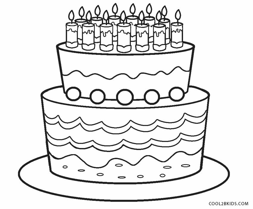coloring cake pages free printable birthday cake coloring pages for kids cake pages coloring 1 2