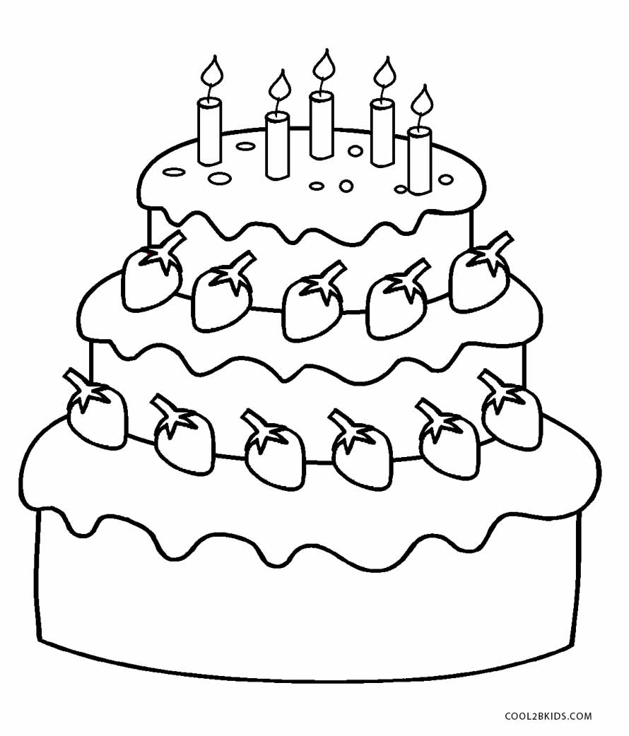 coloring cake pages free printable birthday cake coloring pages for kids pages cake coloring 1 1