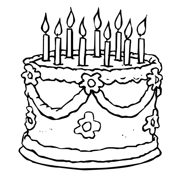 coloring cake pages free printable birthday cake coloring pages for kids pages cake coloring 1 2