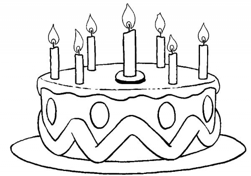 coloring cake pages get this free birthday cake coloring pages 46159 cake coloring pages