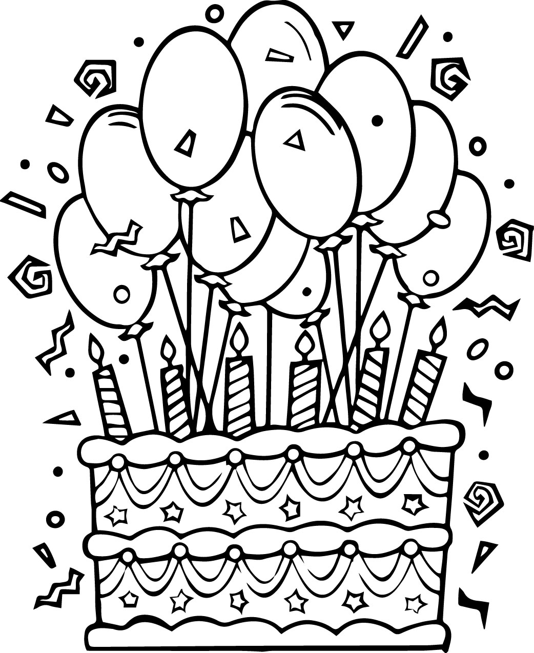 coloring cake pages slice of cake drawing at getdrawings free download coloring cake pages