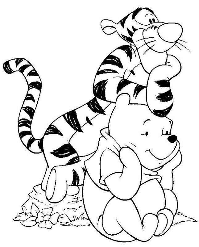 coloring cartoon characters black and white coloring page winnie the pooh coloring pages 98 coloring and cartoon black characters white