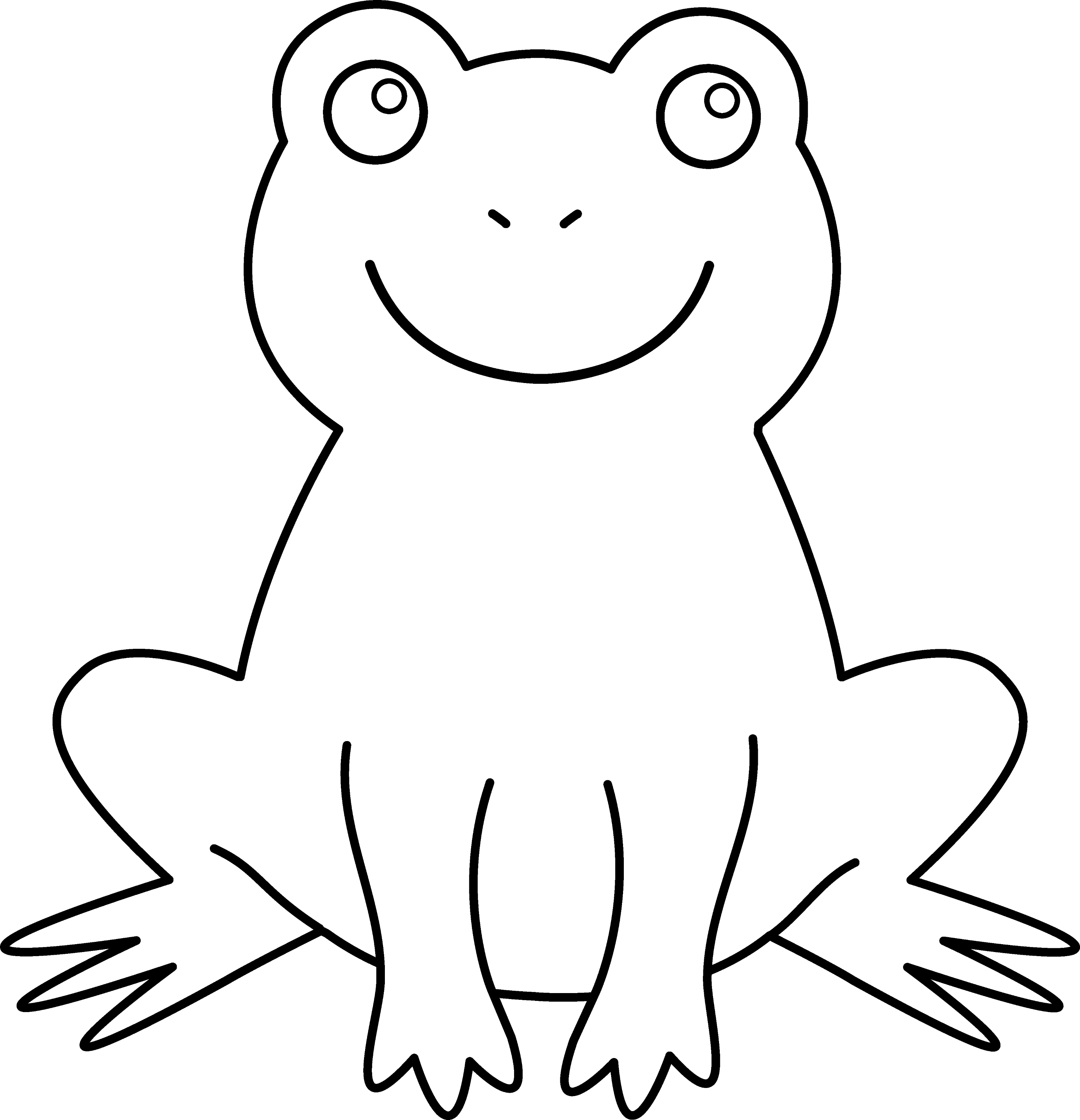 coloring cartoon clipart colorable cute frog free clip art coloring cartoon clipart