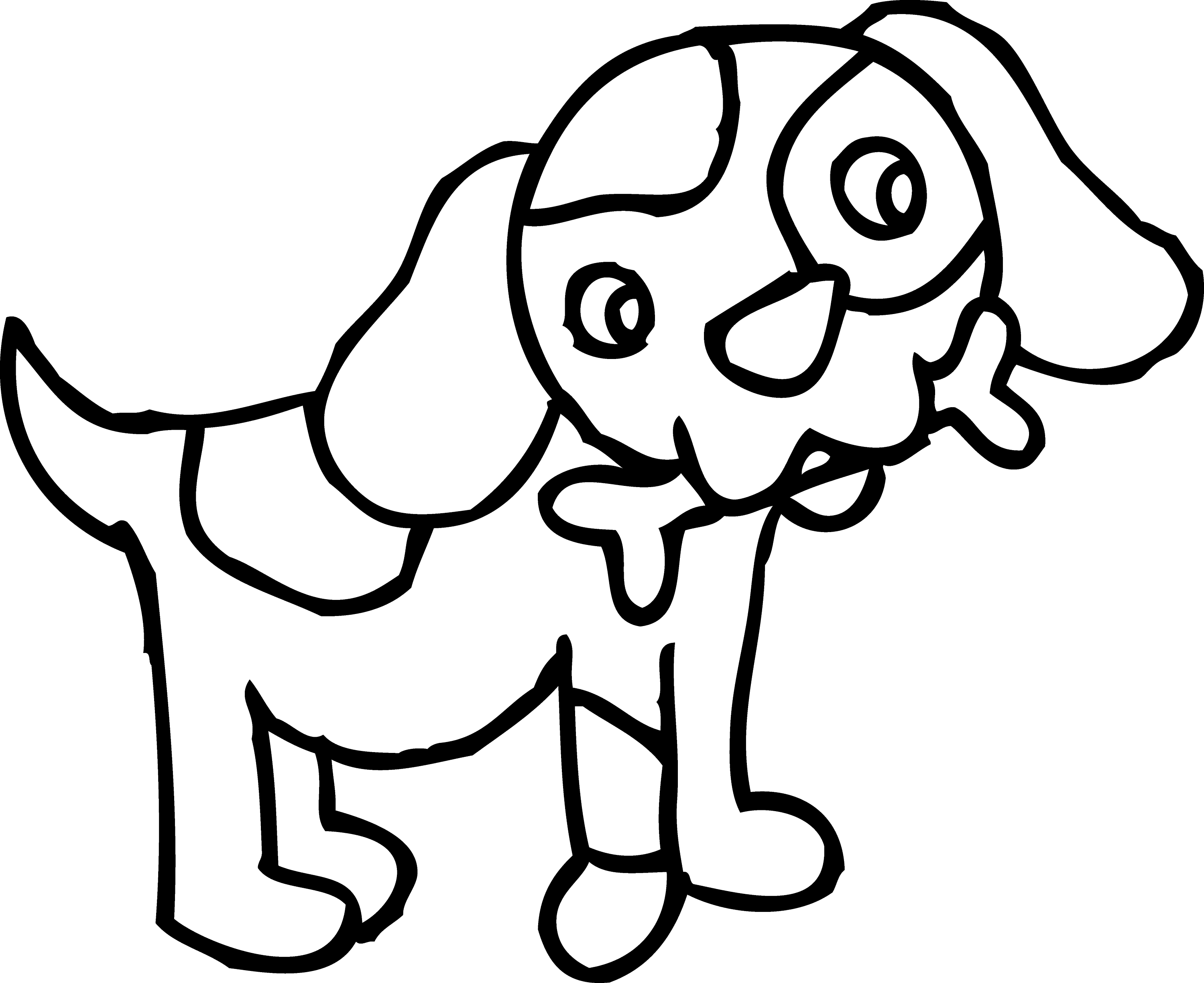 coloring cartoon clipart coloring page of dog with bone free clip art clipart coloring cartoon