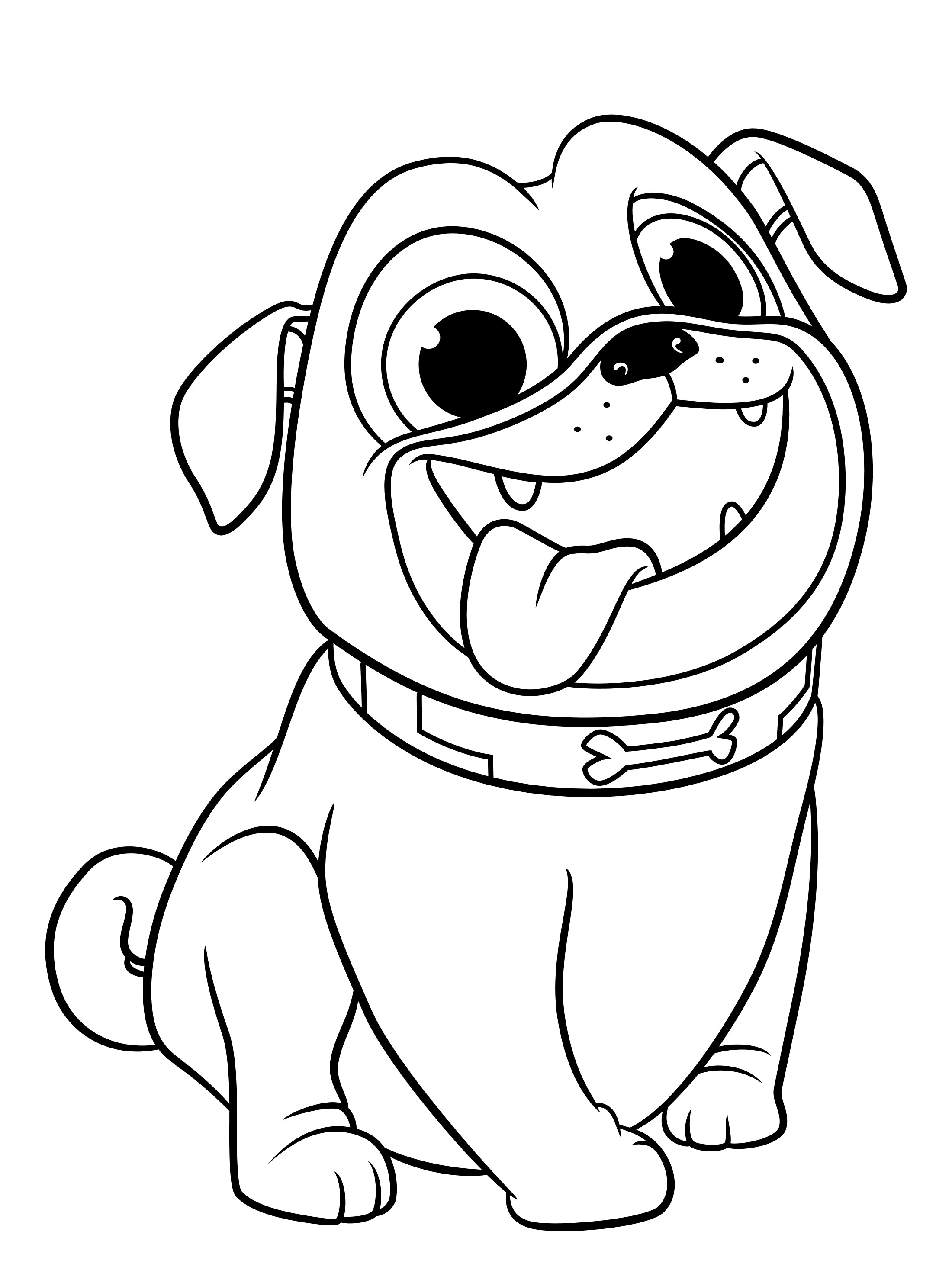 coloring cartoon dog coloring page of dog with bone free clip art coloring cartoon dog