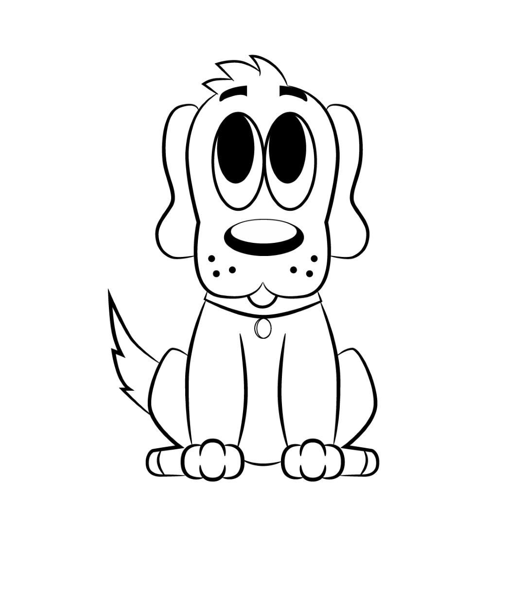 coloring cartoon dog employ dog coloring pages for your childrens creative time cartoon coloring dog