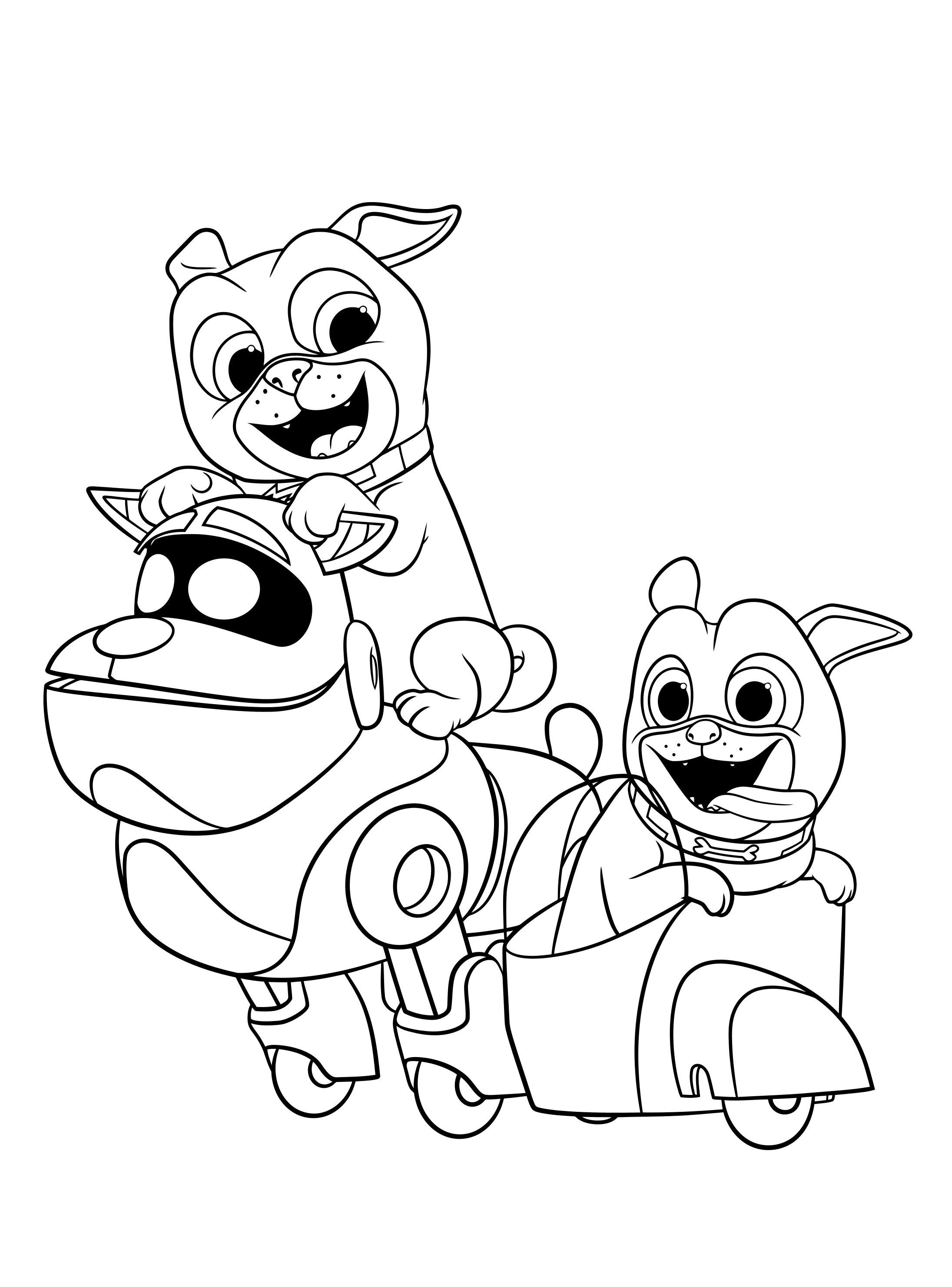 coloring cartoon dog magical dog coloring pages of poochies bowwows flea bags coloring cartoon dog
