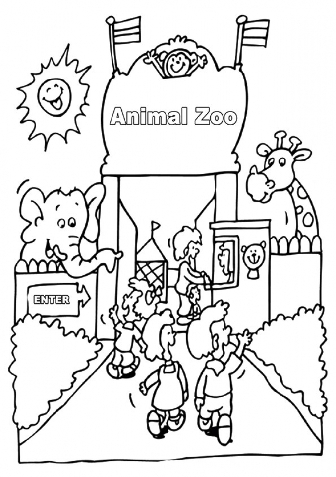 coloring cartoon zoo zoo animals and the word zoo coloring page print color coloring zoo cartoon
