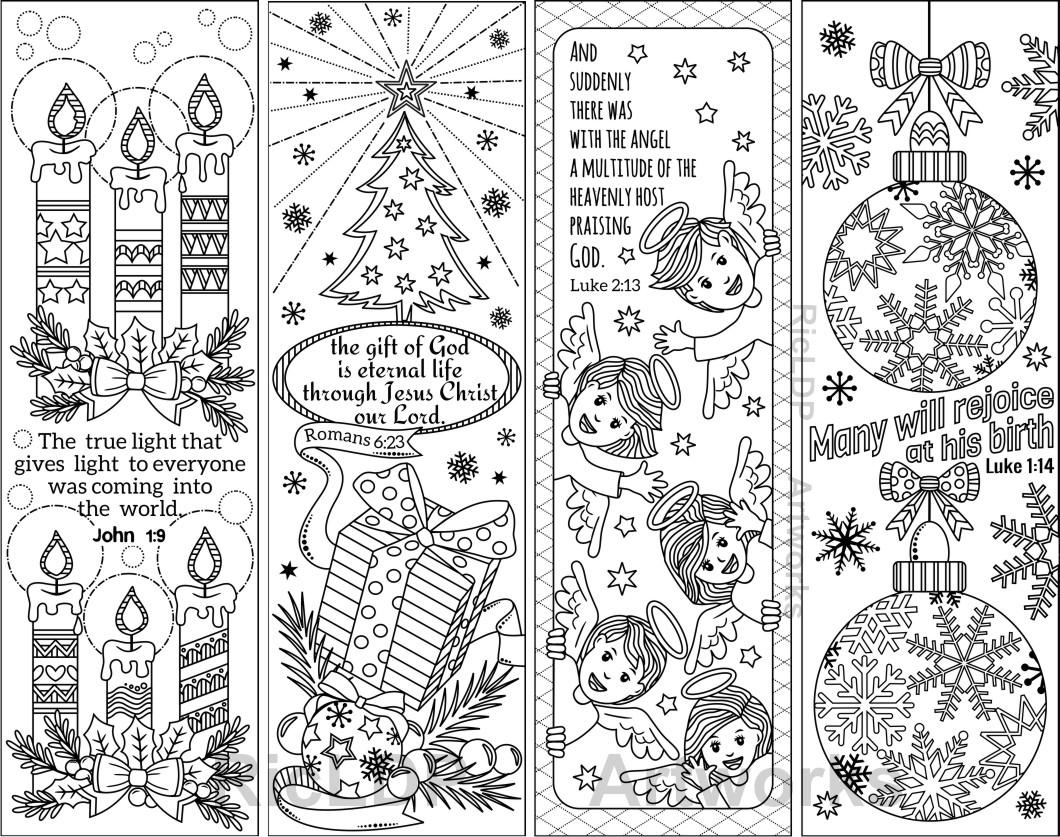 coloring christmas bookmarks 8 printable christmas coloring bookmarks with bible verses coloring christmas bookmarks