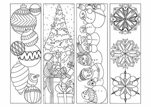 coloring christmas bookmarks christmas coloring printable bookmarks jpgpdf four christmas bookmarks coloring