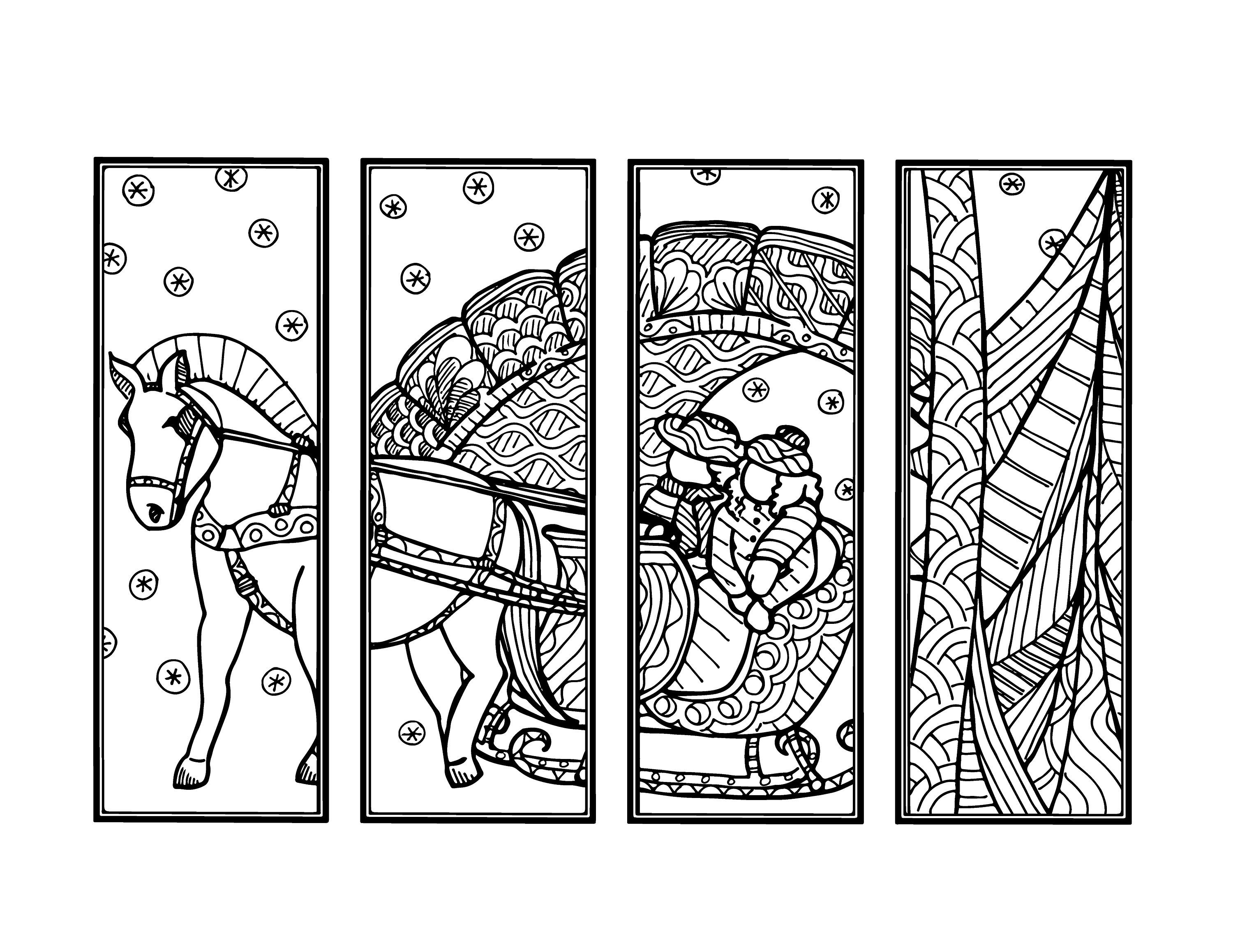 coloring christmas bookmarks diy sleighride bookmarks holiday crafts winter activity christmas coloring bookmarks
